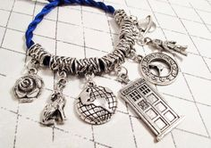Time Travellers Bracelet, inspired by Doctor Who and the TARDIS