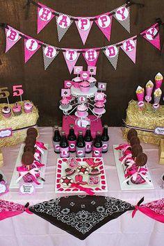 cowgirl birthday ideas   Cowgirl Western Girl 5th Birthday Party Planning Ideas