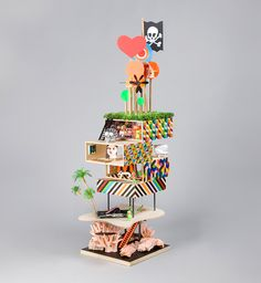 DOLLS-HOUSE: on a giant coral far away by morag myerscough & luke morgan (in collaboration with artists ishbel myerscough, chantal joffe and poet lemn sissay)