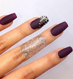 Stunning Matte Prom Nail Design