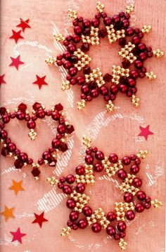 Beautiful Beaded Snowflakes Tutorial