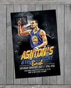 a75f069aea6c Golden State Warriors Birthday Invitation - Step Curry Birthday Invitation  by SammourDesigns on Etsy
