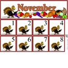 Free November Calendar Set includes month and number cards...