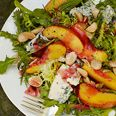 Nectarine and Blue Cheese Salad with Plum Vinaigrette Recipe at Epicurious.com