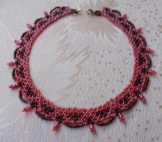 Free pattern for necklace Autumn Color