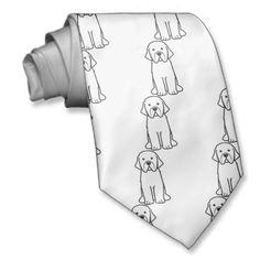 Newfoundland Dog Cartoon Neckwear