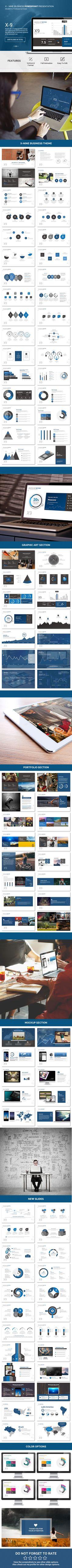 PowerPoint Template #design #slides Download: http://graphicriver.net/item/x9-version-2/13619340?ref=ksioks