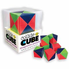 Ceaco/Brainwright Collide-O-Cube Brainteaser/Magnetic Puzzle, Multicolor