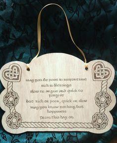 Celtic Wedding Blessing by AlexisKidd on Etsy