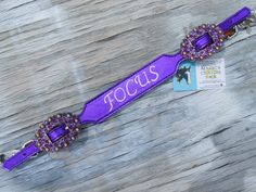 Purple metallic wither strap from Magic's Custom Tack!