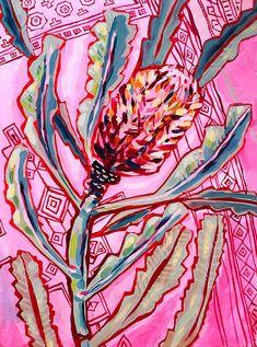 Banksia On Persians No.1 Archival Wall Art Print Illustration