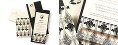 More Art Deco!  Marit Hanson Weddings - Custom Invitations