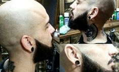 The Best Men Hairstyle for Bald Haircut. Hairstyles for bald men may sound strange in the ears, but as you can see on tv or cinema there are a lot of big Pompadour Hairstyle, Quiff Hairstyles, Cool Hairstyles For Men, Hairstyle Look, Haircuts For Men, Bald Haircut, Short Comb Over, Bald Look, The Rock Dwayne Johnson