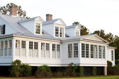 A traditional architecture and planning firm based in Atlanta and New York. Modern Farmhouse Plans, Farmhouse Design, Maine House, My House, Historical Concepts, Plantation Style Homes, Southern Homes, Concept Home, River House
