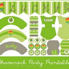 Shamrock Party Printables