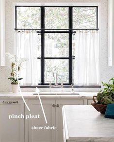 Sheer Cafe Curtain Kitchen Curtain Bedroom Curtains Sheer
