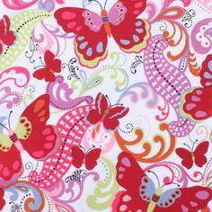 Alexander Henry House Designer - Papillon - Papillon in Red