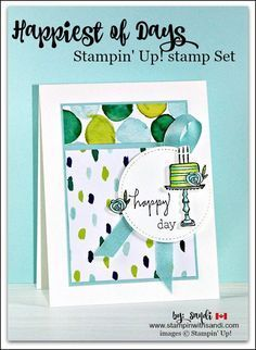 Happiest of days from Stampin Up, card by Sandi @ stampinwithsandi.com