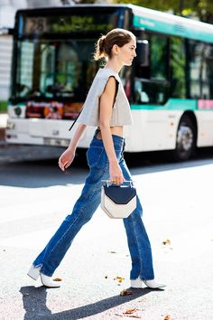 Finally, the Most Flattering Shoes to Wear With Flares via @WhoWhatWear