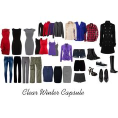 """Clear Winter Wardrobe Ideas"" by katestevens on Polyvore"