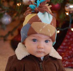 DIY fleece hat - very easy!