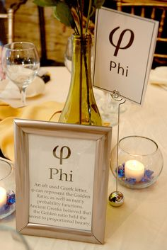 Picture Frame, Wine Bottle, & Candle Centerpieces