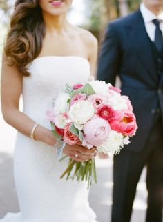 Peony bouquet: http://www.stylemepretty.com/2015/01/27/peony-filled-spring-garden-wedding/ | Photography: Christina McNeill - http://www.christinamcneill.com/
