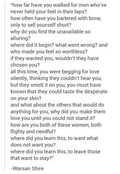 Warsan Shire So Wonderful  Love Letter To Self  Quotes