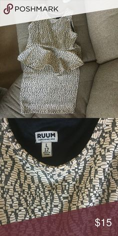 Peplum dress Gorgeous black and gold dress. Stretchy material is very comfy. American Eagle Outfitters Dresses Formal