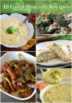 10 Great Broccoli Recipes
