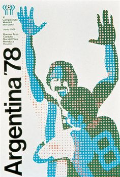 Very cool poster from the '78 Argentina World Cup. If anyone has info on the artist behind this post it in the comments.