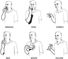 american sign language colors