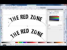 Learn how to draw inset and outset curved text in InkScape (Red Zone Logo Design - Part