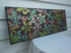 New Orleans Aqua and Bronze Fleur De Lis Painting by MosaicGumbo, $40.00