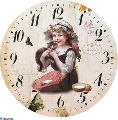 View album on Yandex. Paper Clock, Clock Art, Diy Clock, Clock Ideas, Clock Printable, Face Images, Shabby, Old Clocks, Decoupage Paper