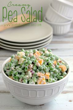 Creamy Pea Salad   Love Bakes Good Cakes