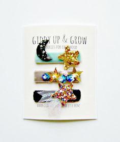 Tiny Snap Clips Celestial Elements Baby Hair by giddyupandgrow