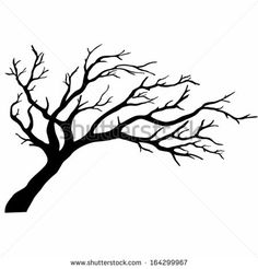tree silhouettes without leaves | Tree silhouettes. Vector illustration. - stock vector