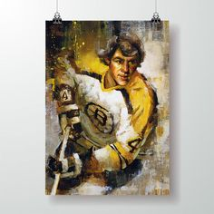 Boston Bruins Hockey, Chicago Blackhawks, Sports Bar Decor, Hockey Posters, Bobby Orr, Hockey Gifts, Thing 1, Framed Canvas Prints, Sports Art