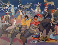 (Korea) Russian Circuses 1995 by Chun Kyung-ja (1924-2015). 천경자. 러시아 서커스단.