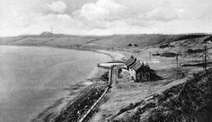Old photograph of cottages by the coast at Buckhaven, Fife , Scotland . Once a thriving weaving village and fishing port, in Buckhaven. Old Photographs, Photos, Holiday Resort, Cottages, Fife Scotland, Coast, Tours, Beach, Fishing