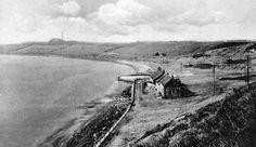 Tour Scotland Photographs: Old Photograph Cottages Buckhaven Scotland