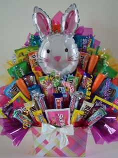 Easter candy bouquet easter baskets pinterest candy bouquet learn how to make candy bouquets candy bouquet designs books start candy bouquet and gift basket business or do it for a hobby negle