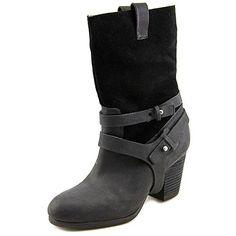 Ralph Lauren Denim & Supply Women's Mattie Leather Boots, Black, Size 7.5 - http://shopping-craze.com/2016/05/22/ralph-lauren-denim-supply-womens-mattie-leather-boots-black-size-7-5/