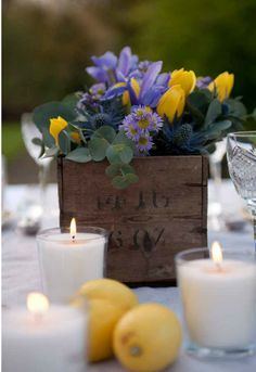beautiful wedding colors! | lavender and lemon yellow
