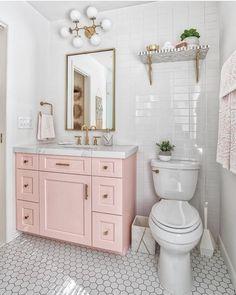 60 Gorgeous Bathroom Countertops Ideas That Make Your Bathroom Look Elegant - Millions Grace Bad Inspiration, Bathroom Inspiration, Budget Bathroom, Master Bathroom, Bathroom Ideas, Bathroom Pink, Wood Bathroom, Parisian Bathroom, Bathroom Vanities