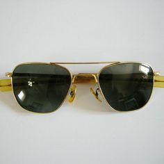38af38b34497 VTG American Optical 5-1/2 AO Aviator Original Pilot 52[]20 Sunglasses - NO  CASE #AO #Pilot