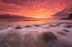 Bowling Ball Beach Sunset Mendocino County, CA coastline Hd Landscape, Landscape Wallpaper, Mendocino County, Sunset Wallpaper, Bowling Ball, Beautiful Landscapes, Beautiful World, Sunrise, Sky