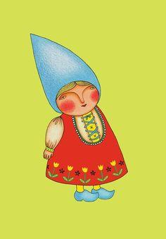 Blue lady gnome