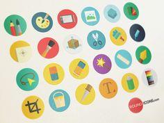 1000 Flat icons Set - Graphic Design set by Ramy Wafaa